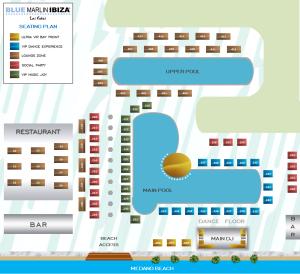 Beach Club Seating Map